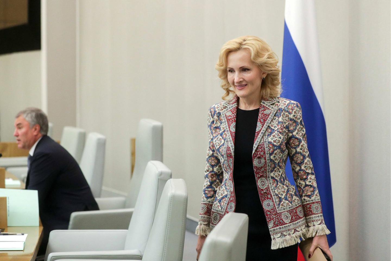 Ирина Яровая в жакете-ковре