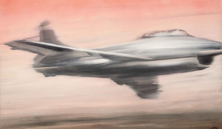 Герхард Рихтер. «Реактивный истребитель», 1963