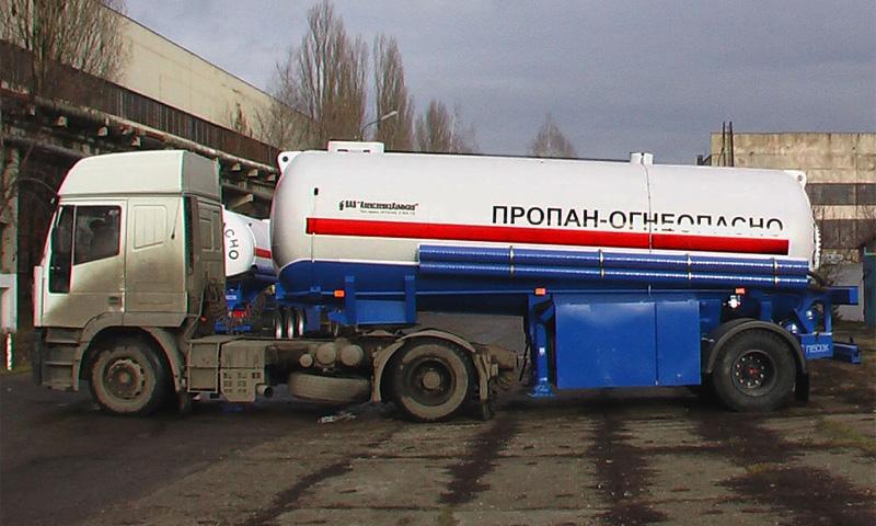 Под Томском перевернулась автоцистерна со сжиженным пропаном