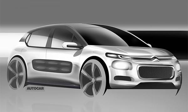 Новый Citroen C3 получит защитные панели на дверях