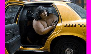 В США голая девушка угнала машину такси