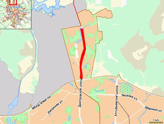 Пробка на Дмитровском шоссе - от поселка  Северный до МКАДа
