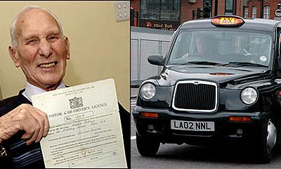 Альфред Коллинз – самый старый таксист в Англии