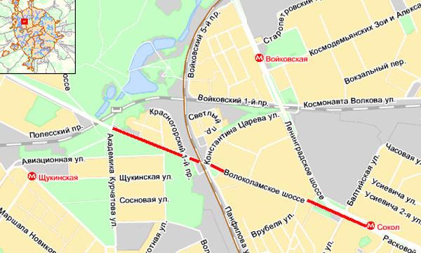 Пробка на Волоколамском шоссе