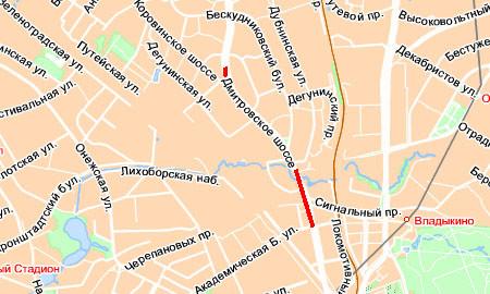 Пробка на Дмитровском шоссе