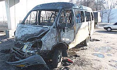 В Москве сгорело маршрутное такси