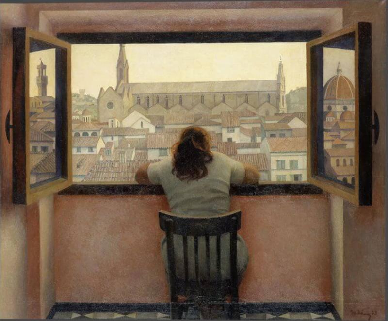 Татьяна Яблонская, «Вечер. Старая Флоренция», 1973