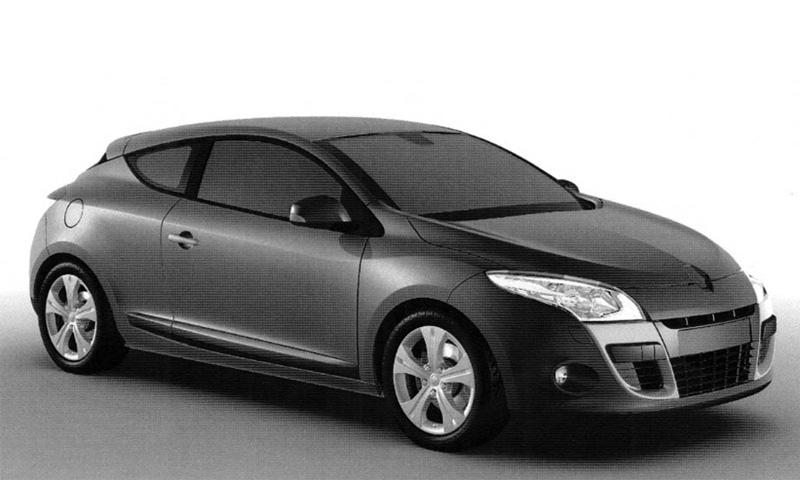 Появились фото трехдверной версии Renault Megane
