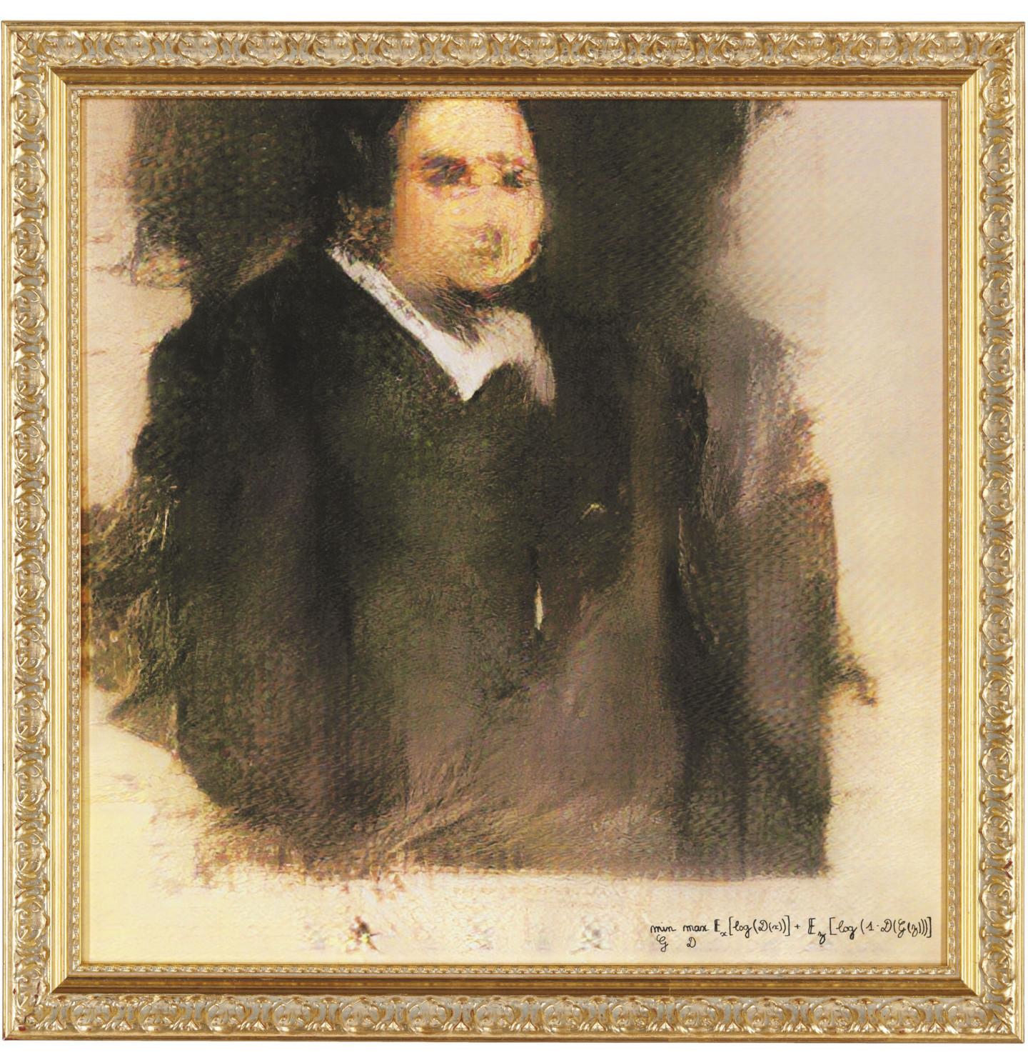 «Портрет Эдмона Белами», созданныйгенеративно-состязательной сетью