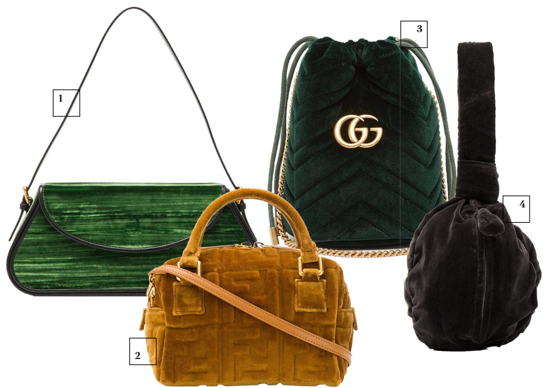 By Far, 32 880 руб. Fendi (Farfetch), 139 900 руб. Gucci, 47 040 руб. Lemaire (Matches Fashion), 39 995 руб.