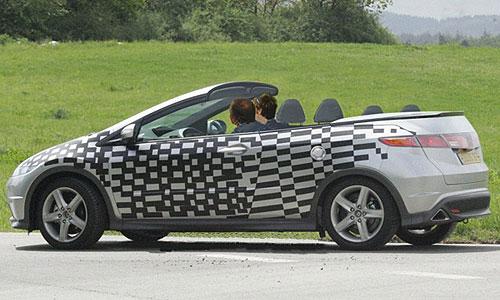 Кабриолет Honda Civic проходит испытания
