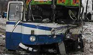 В Москве попал в ДТП рейсовый автобус