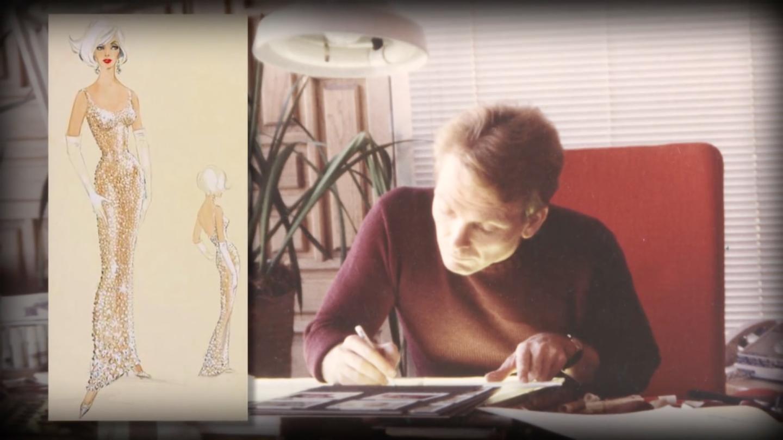Эскизы платья модельера Жана Луи