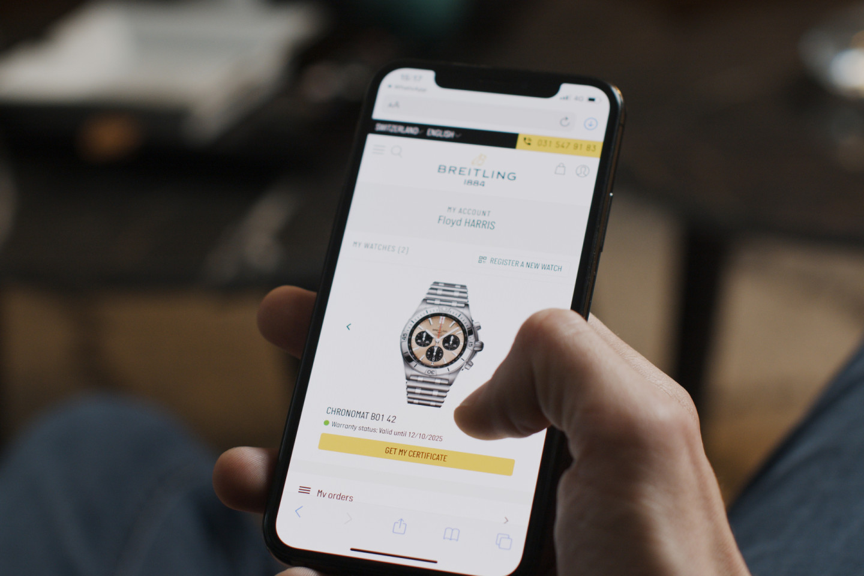 Цифровой паспорт Breitling по технологии блокчейн