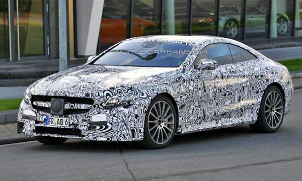 Mercedes тестирует купе S63 AMG