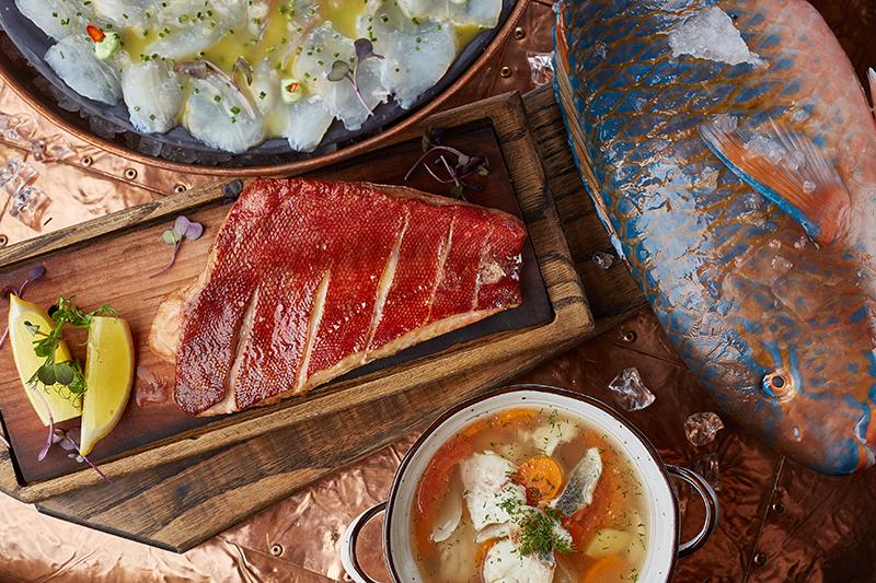 Севиче, стейк и уха из рыбы