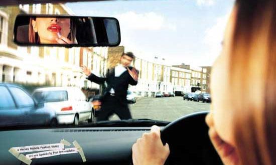 Отвлекшийся от дороги водитель увеличивает риск аварии в девять раз