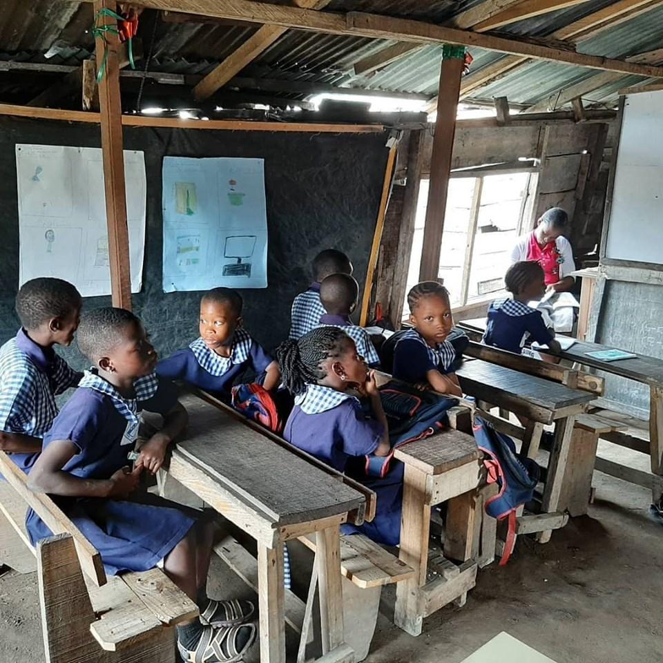 Школа в Лагосе, Нигерия