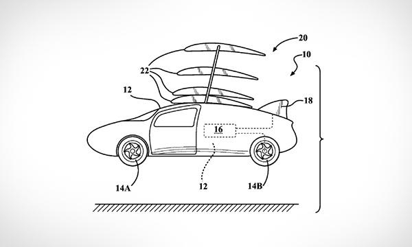 Toyota запатентовала крылья для летающего автомобиля