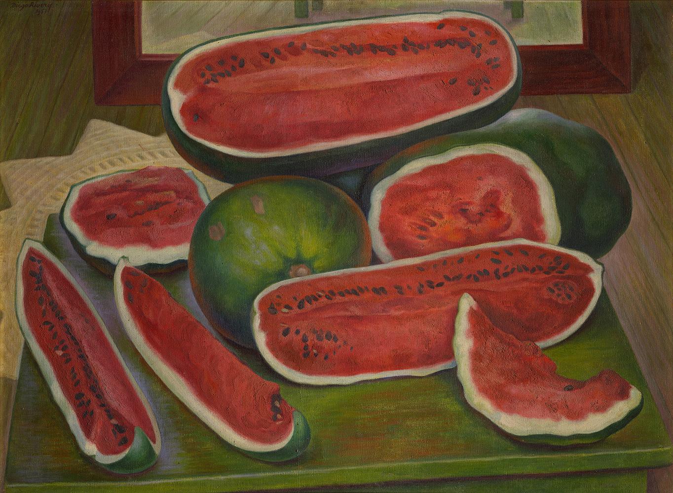 Диего Ривера. Арбузы. 1957