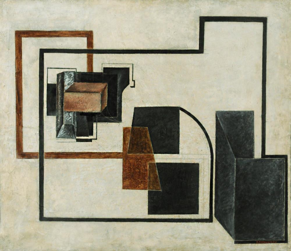 ВалентинЮстицкий. «Станковая живописная конструкция», 1921