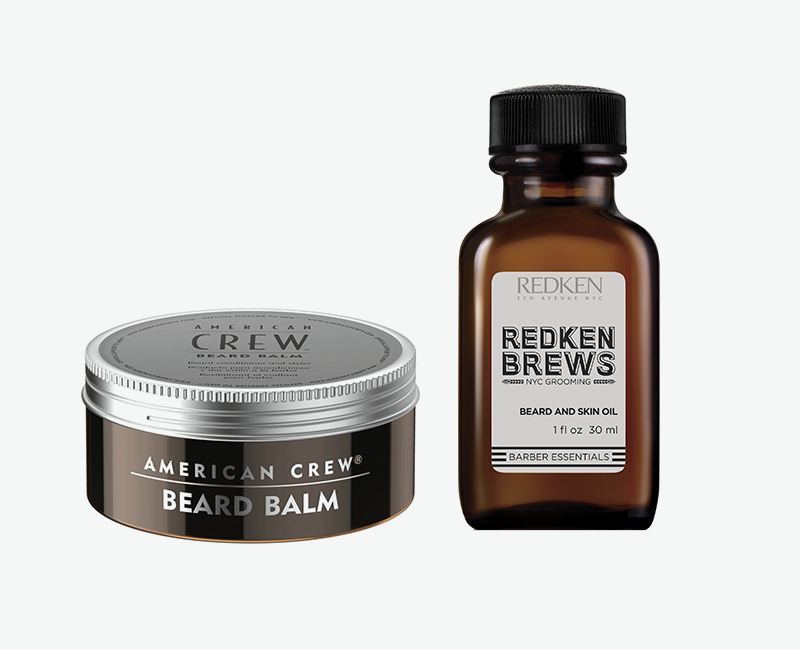 Бальзам для бороды Beard Balm, American Crew Масло для бороды Beard and Skin Oil, Redken Brews