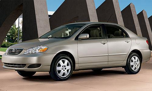 Седан Toyota Corolla без подушек безопасности