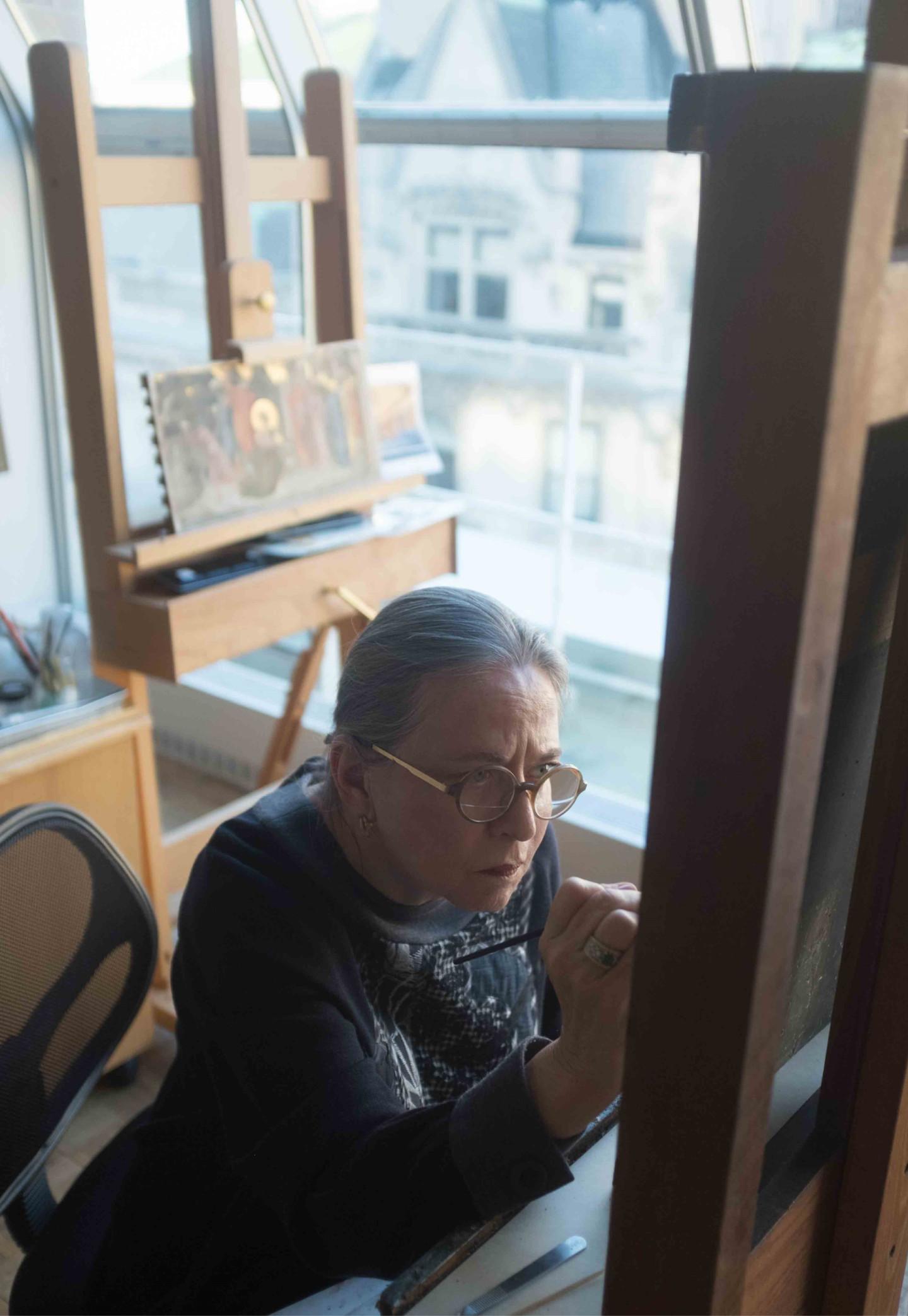 Реставратор Диана Модестини, профессор Нью-Йоркского института изобразительных искусств