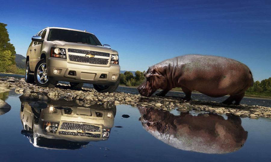 Бегемот Chevrolet Tahoe  в отличной форме