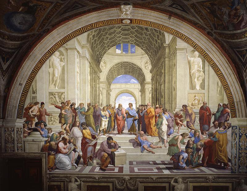 Рафаэль Санти,«Афинская школа», 1511