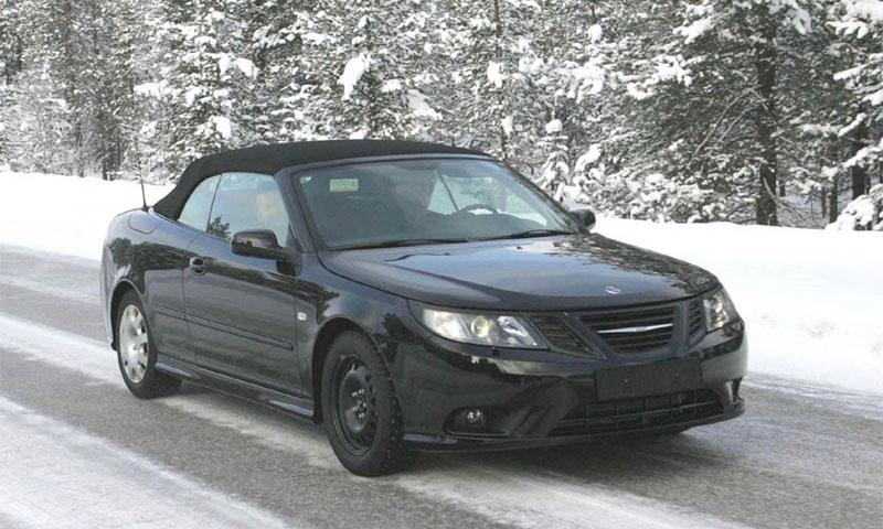 Появились шпионские фото кабриолета Saab 9-3 2008