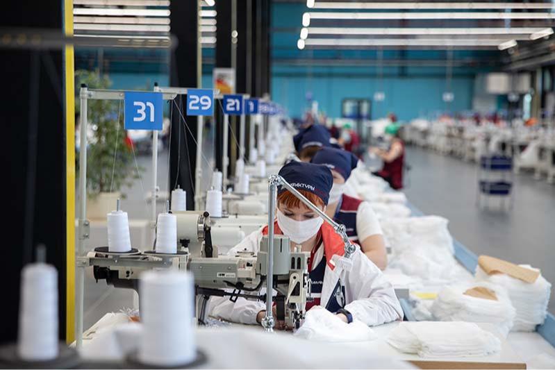 Мануфактуры компании Bosco в Калуге, переориентированные на выпуск медицинских масок