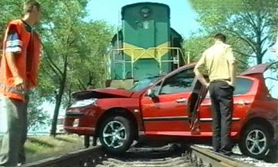 Число столкновений машин с поездами в России выросло на 28%
