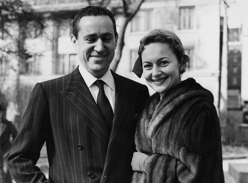 Пьер Галанте и Оливия де Хэвилленд, 1955