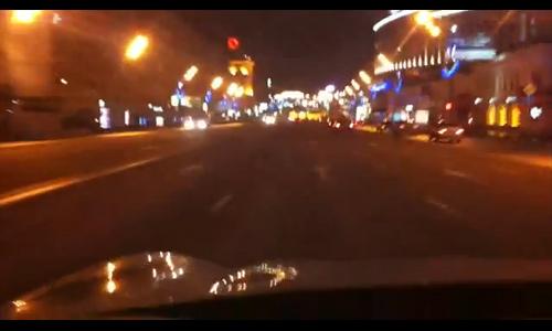 VIP-авто устроило гонки на Садовом кольце