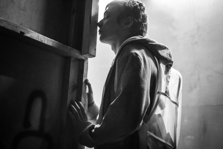 Александр Горчилин в роли Зайцева в спектакле Кирилла Серебренникова «(М)ученик»
