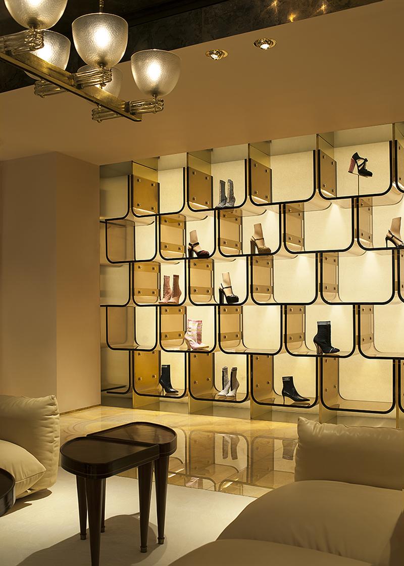 Бутик Fendi в Лондоне, дизайн DIMORESTUDIO
