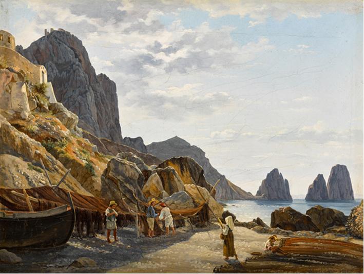Sylvester Feodosievich Shchedrin, Fishermen on Capri with the Faraglioni in the Background, 1829, oil on canvas, est. £150,000-250,000