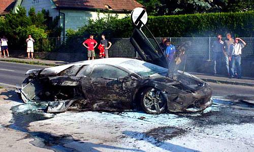 Предсерийный Lamborghini Murcielago LP640 разбился на шоссе в Австрии