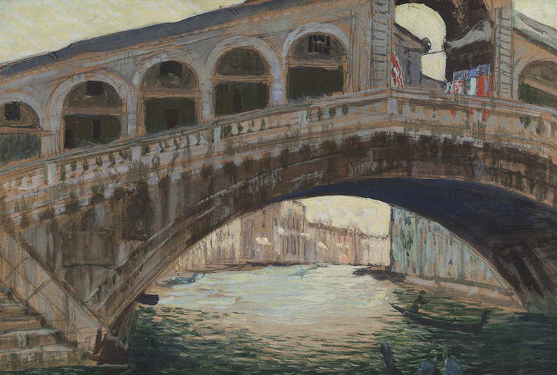 Борис Кустодиев,«Венеция. Мост Риальто».1907 год