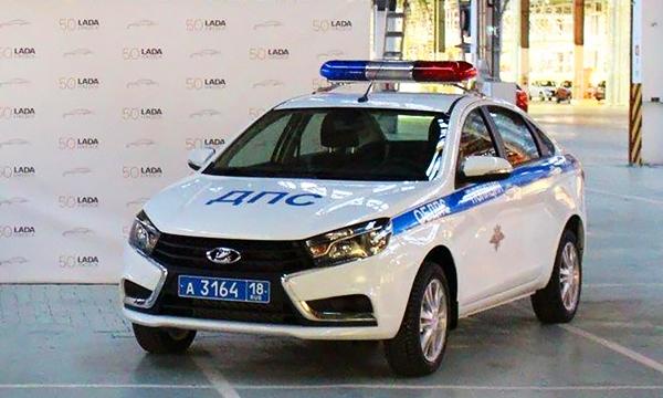 Lada Vesta превратили в полицейский автомобиль