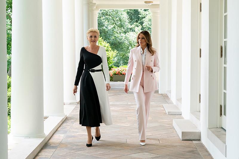 Первая леди Польши Агата Корнхаузер-Дуда и первая леди СШАМелания Трамп