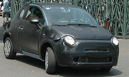 Fiat 500 – шпионская фотография
