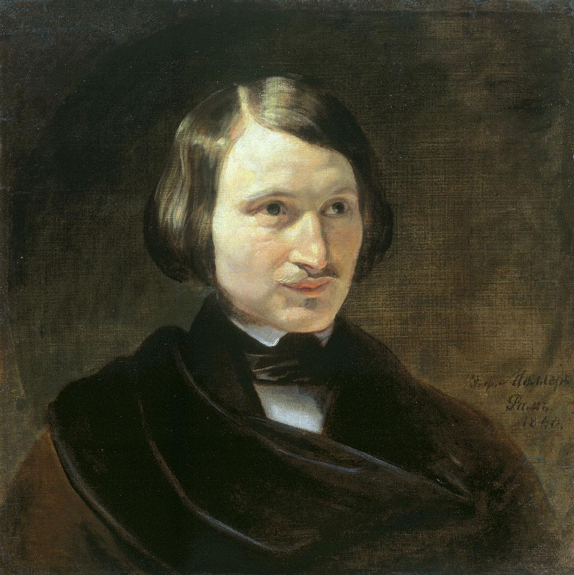 Николай Гоголь. Портрет кисти Федора Моллера, 1840