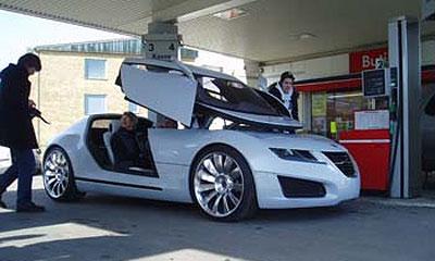 Концепт-кар Saab Aero X выехал на улицы