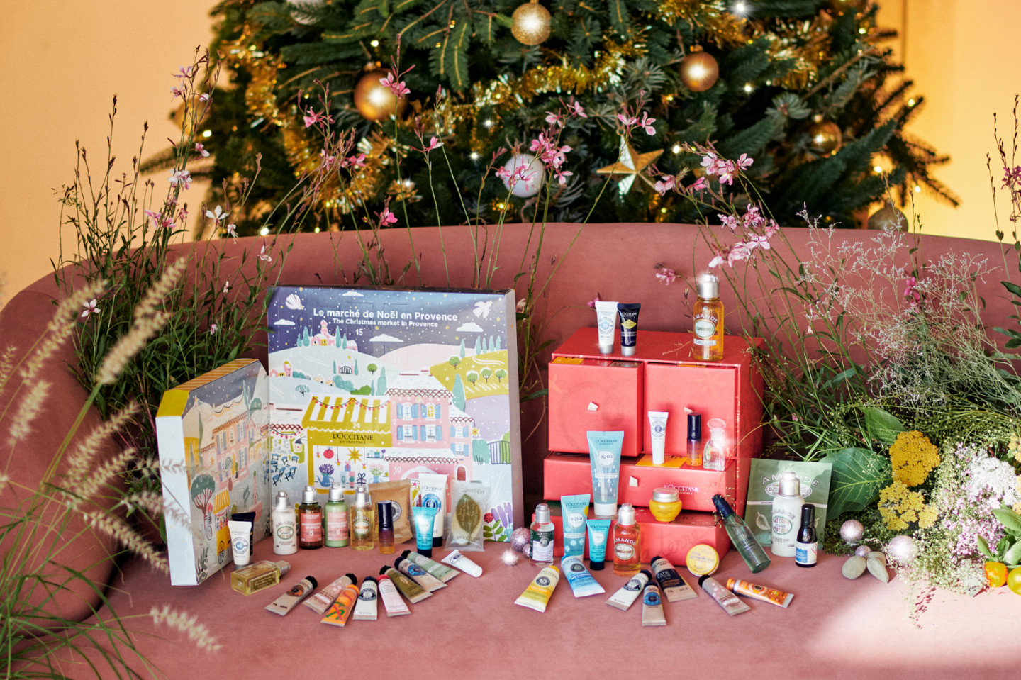 Адвент-календари The Christmas Market in Provence и Luxury Beauty, L'Occitane
