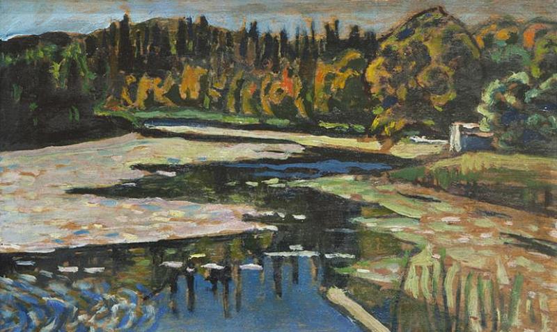 ВасилийКандинский. «Река осенью». Между 1901 и 1903