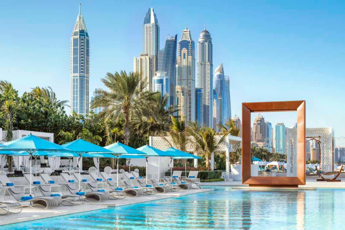 Вид на Дубай с территории курортаOne&Only Royal Mirage