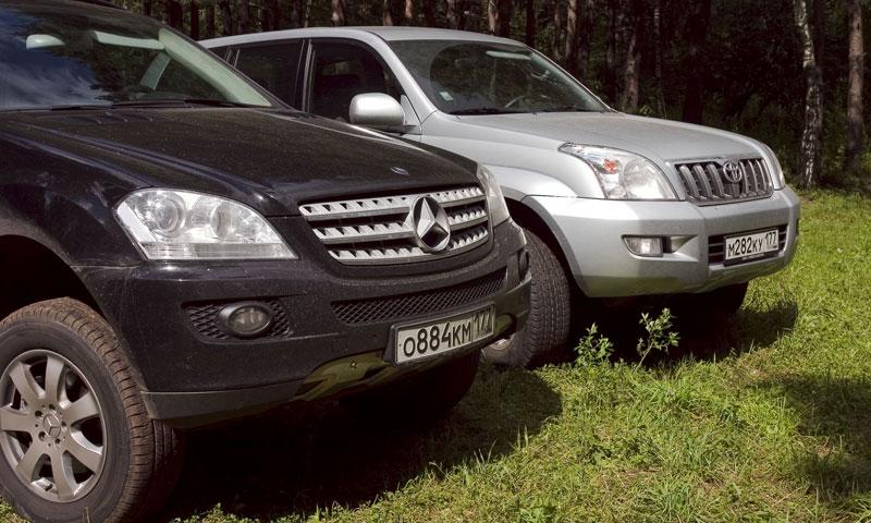 Land Cruiser Prado экзаменовал Mercedes-Benz ML350