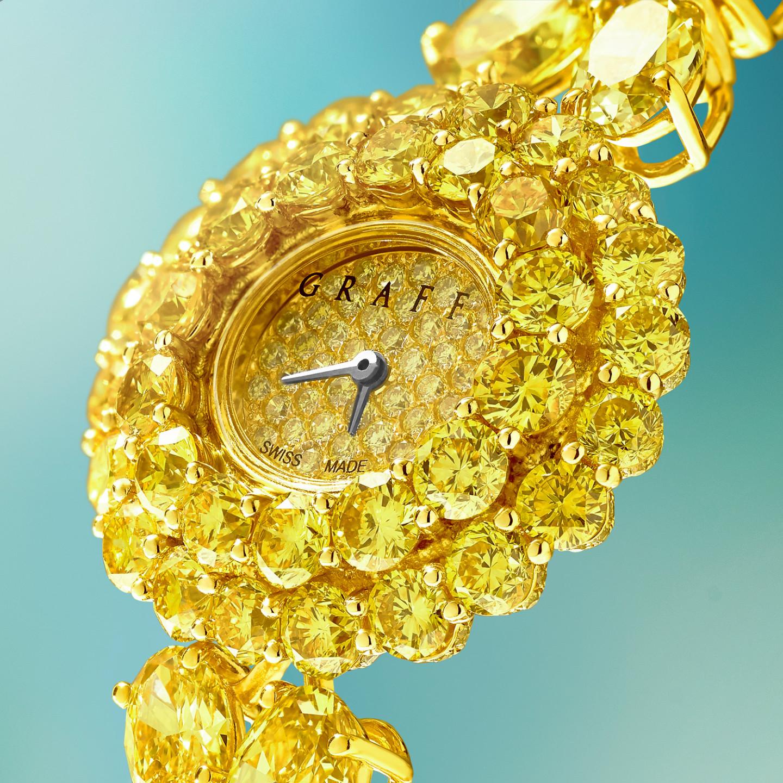 Ювелирные часы The Round Graff Fancy Vivid Yellow Diamond, Graff